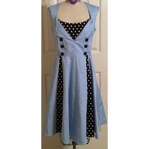Pinup Vintage Style Zaful Midi Polka-dot Dress